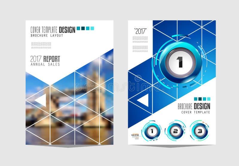 Plantilla del folleto, diseño del aviador o cubierta de Depliant para la presentación del negocio ilustración del vector