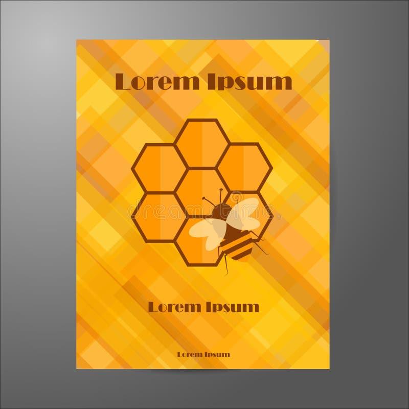 Plantilla del folleto en tema de la apicultura libre illustration