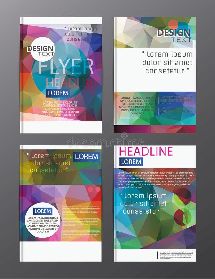 Plantilla del folleto del informe anual del negocio del diseño del aviador cubierta pre stock de ilustración