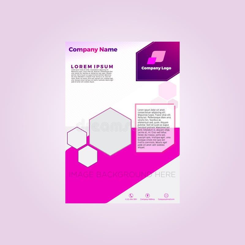 Plantilla del folleto para la plantilla del rosa de la compañía libre illustration