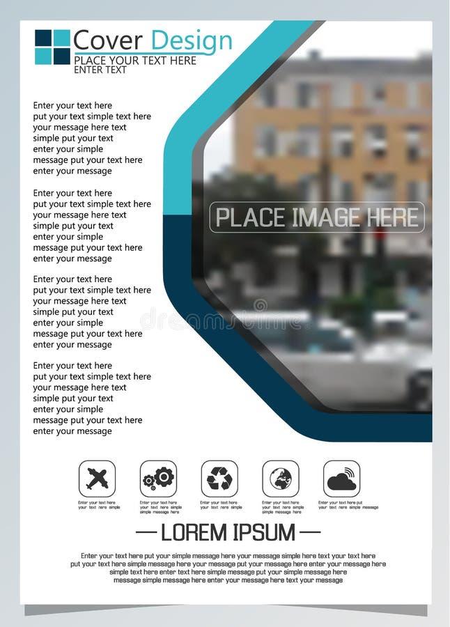 Plantilla del folleto para los reposts relacionados tecnología anual, disposición del diseño a4 del vector con el espacio para el stock de ilustración