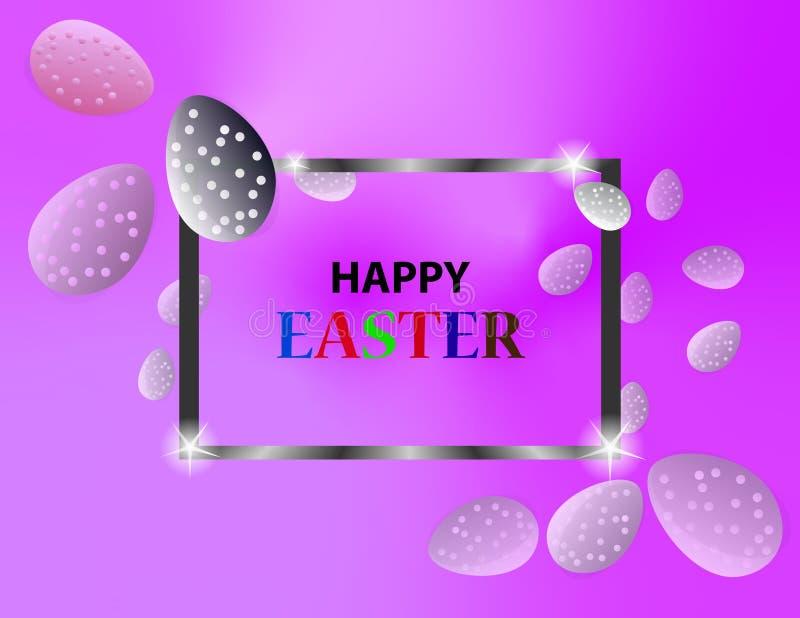 Plantilla del fondo de Pascua con los huevos coloridos Ilustraci?n del vector libre illustration