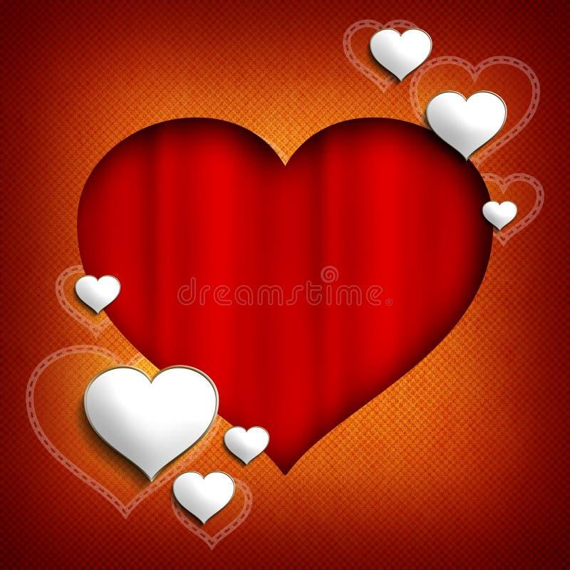 Plantilla del fondo de Valentine Day stock de ilustración