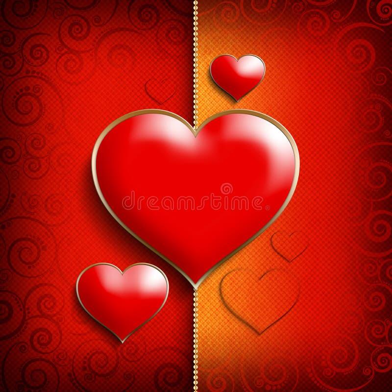 Plantilla del fondo de Valentine Day ilustración del vector
