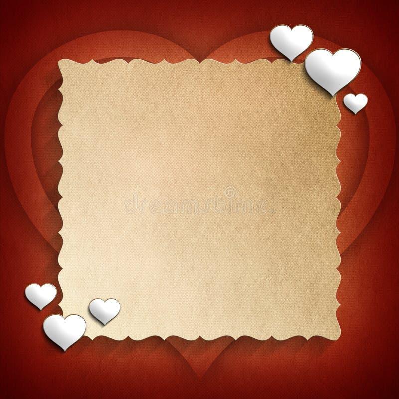 Plantilla del fondo de Valentine Day libre illustration