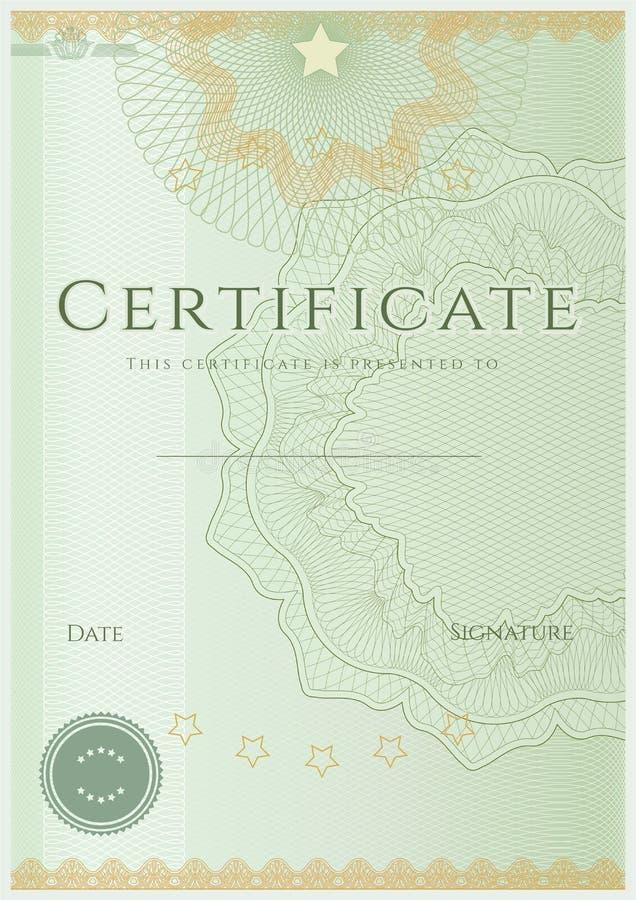 Plantilla del fondo del certificado/del diploma. Modelo libre illustration