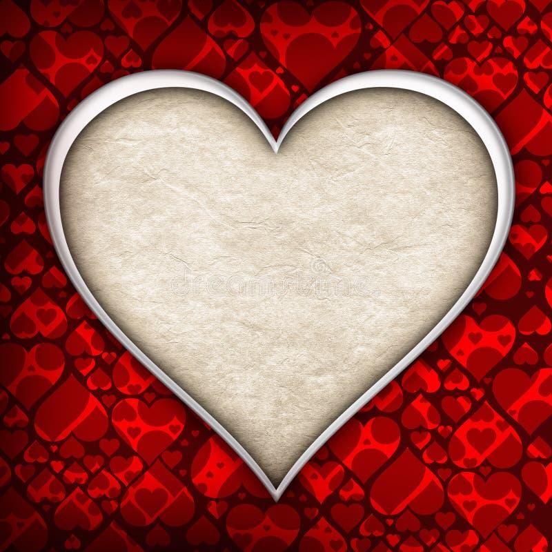 Plantilla del fondo del día de tarjetas del día de San Valentín stock de ilustración
