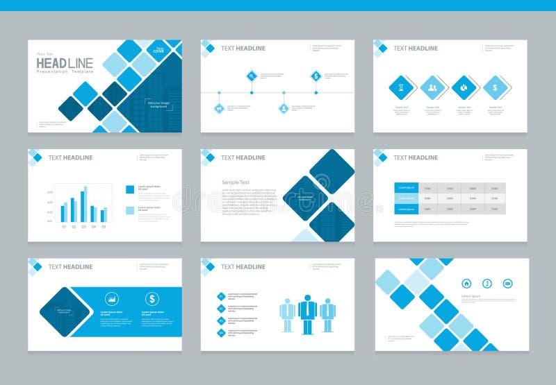 Plantilla del fondo del diseño de la presentación del negocio ilustración del vector