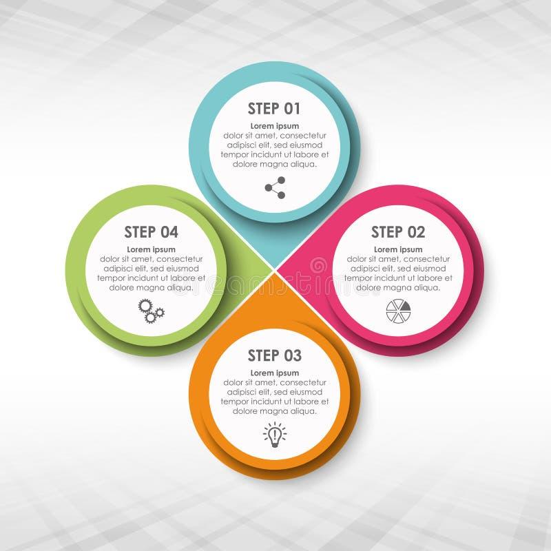 Plantilla del gráfico de la información del negocio ilustración del vector