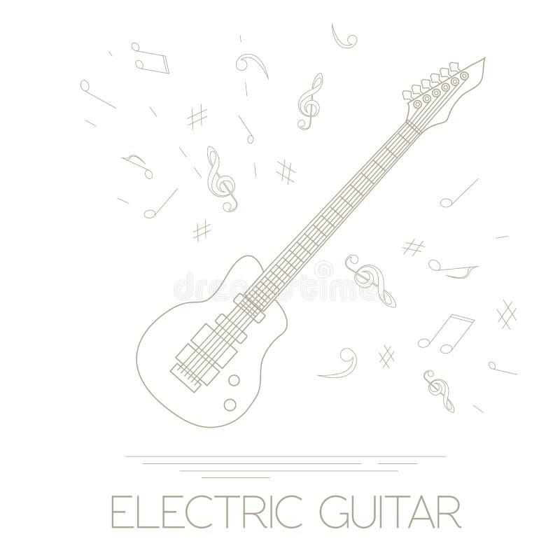 Plantilla Del Gráfico De Los Instrumentos Musicales Guitarra ...