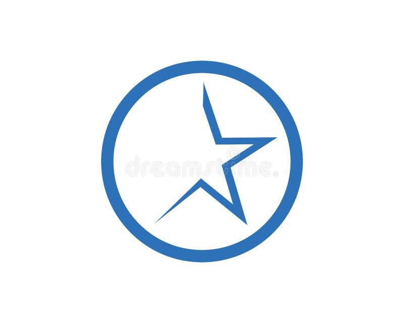 Plantilla del icono de la estrella stock de ilustración