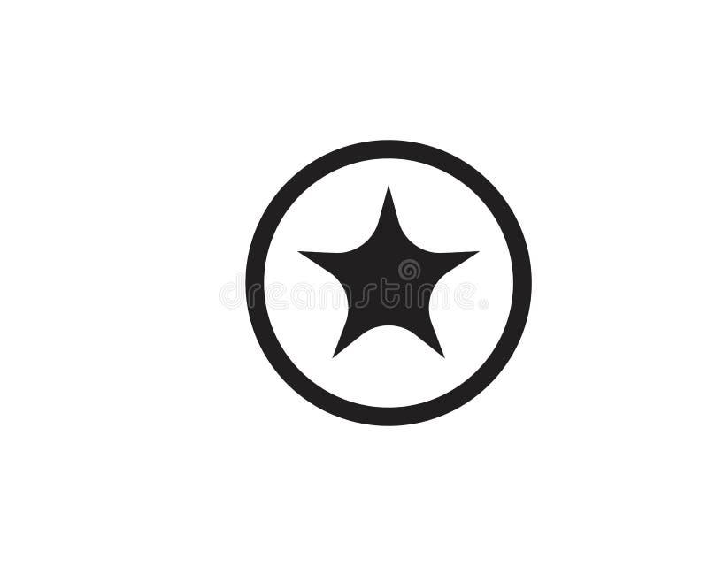 Plantilla del icono de la estrella ilustración del vector