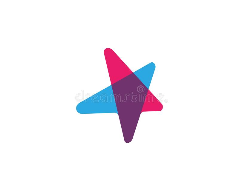 Plantilla del icono de la estrella libre illustration
