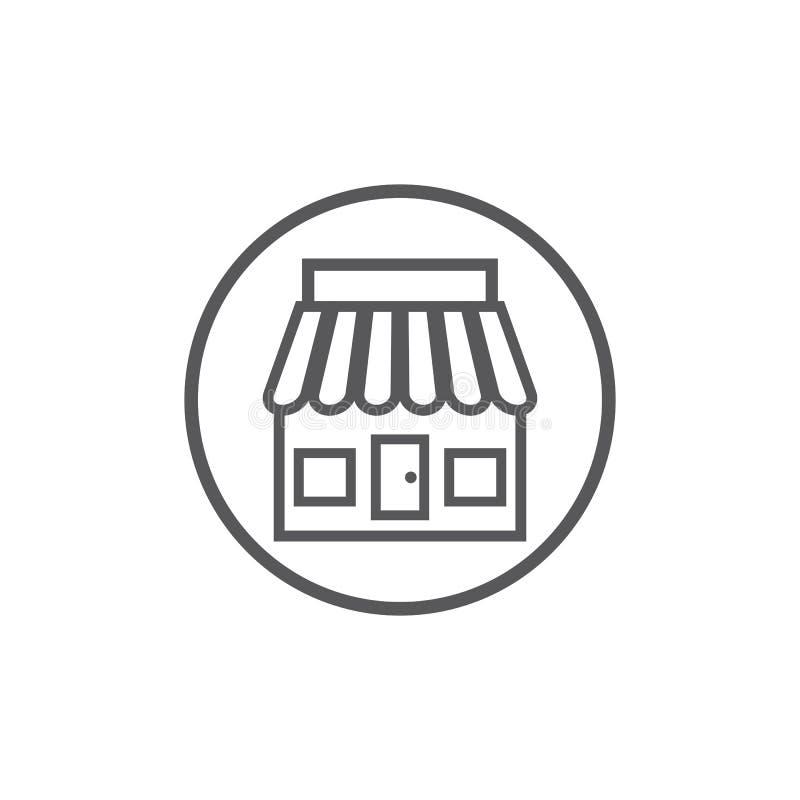 Plantilla del icono de la tienda ilustración del vector