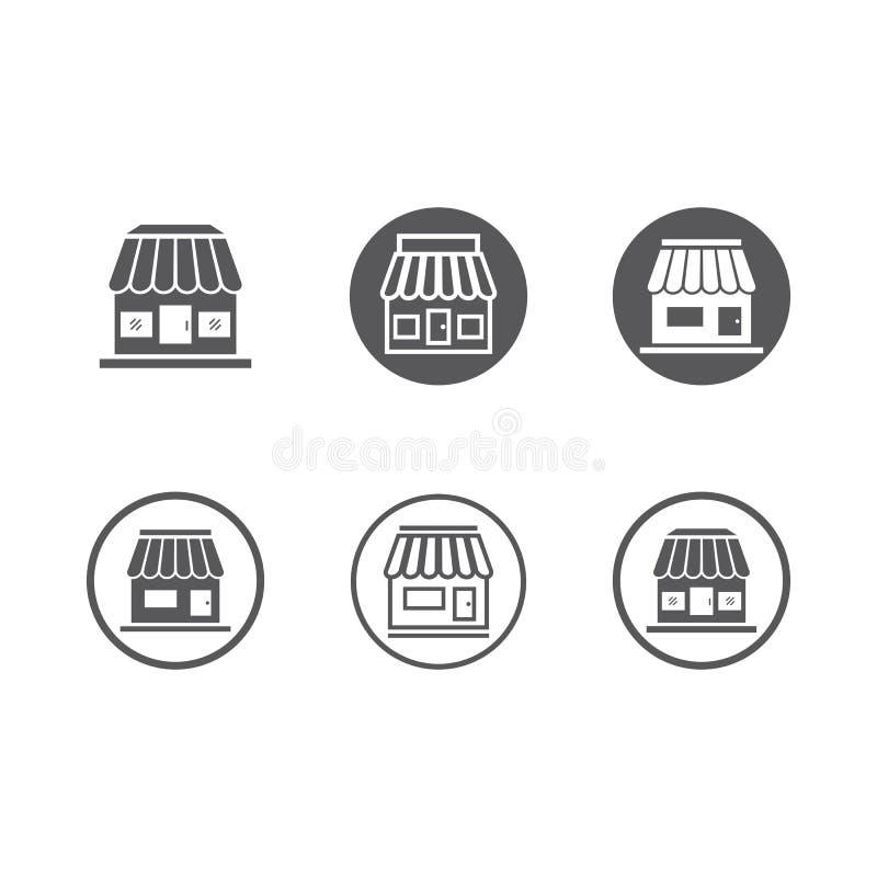 Plantilla del icono de la tienda stock de ilustración