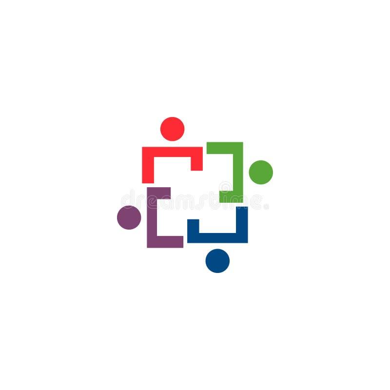 Plantilla del icono del logotipo de la organización de gente de la comunidad ilustración del vector