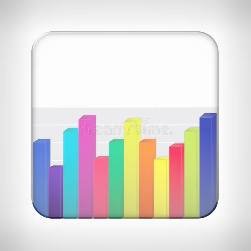 Plantilla del icono para los usos financieros stock de ilustración