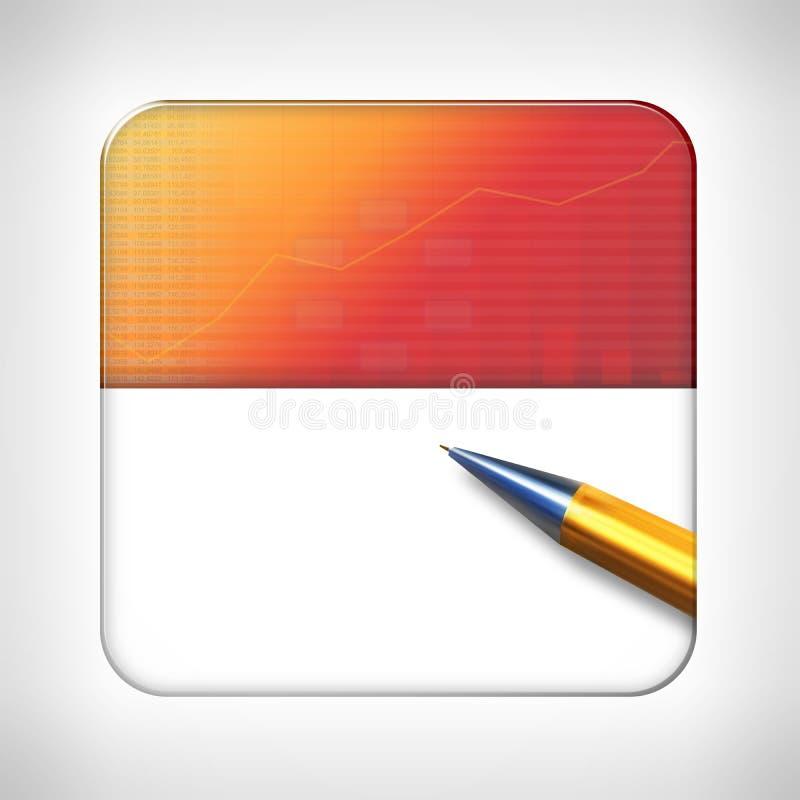 Plantilla del icono para los usos financieros ilustración del vector