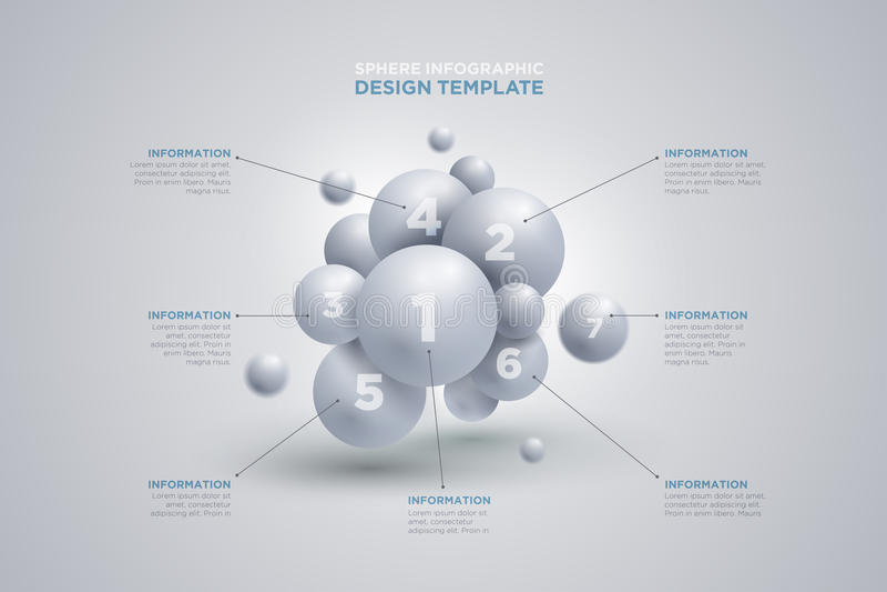 Plantilla del infographics de la esfera libre illustration