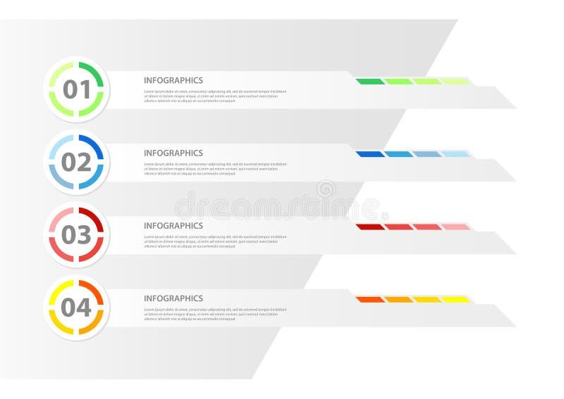 Plantilla del infographics del diseño moderno ilustración del vector