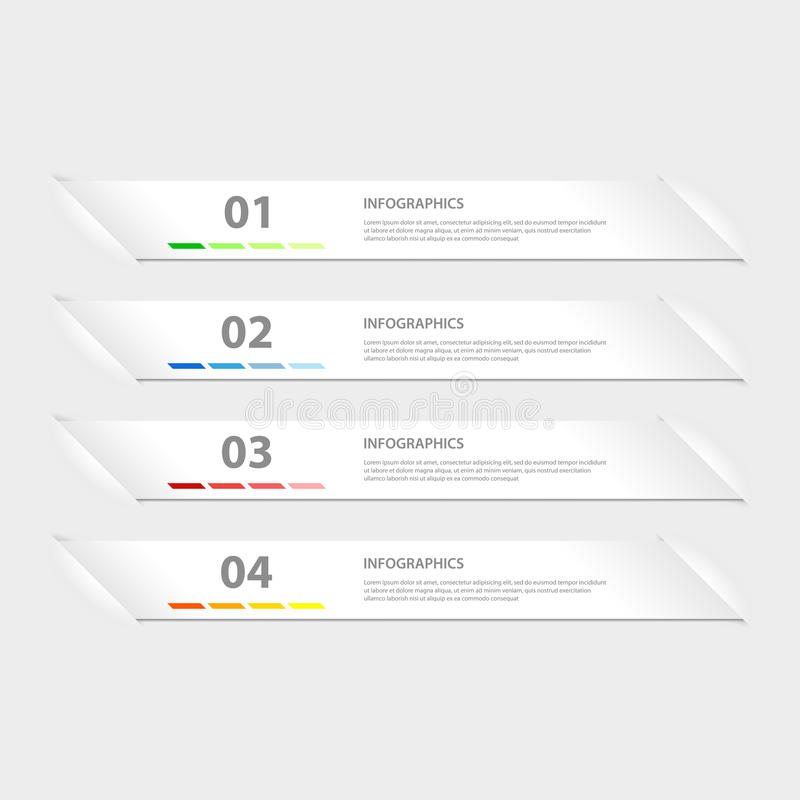 Plantilla del infographics del diseño moderno libre illustration