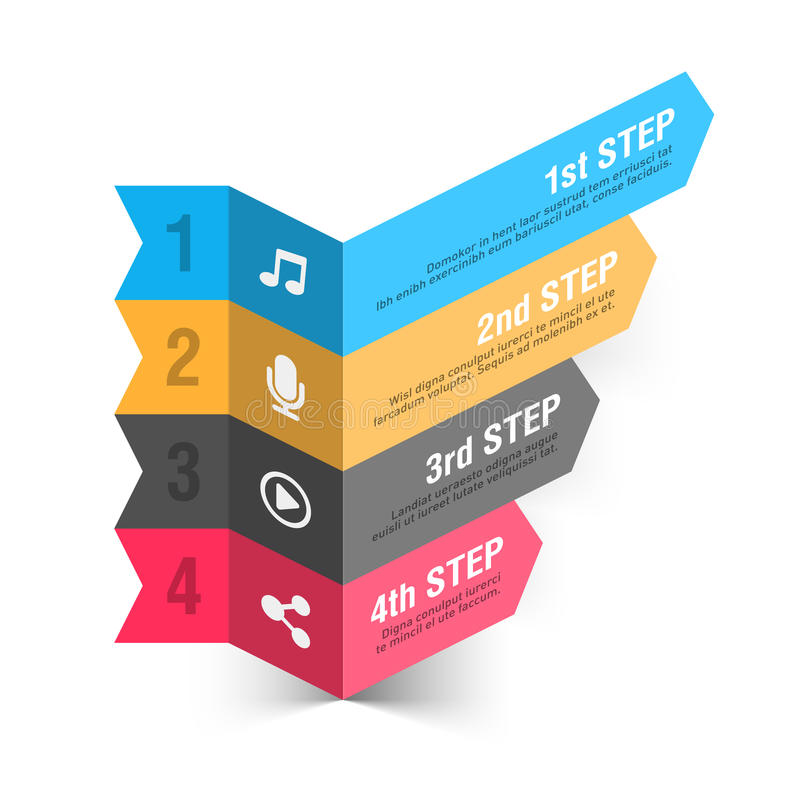 Plantilla del infographics del extracto del tema de la música libre illustration