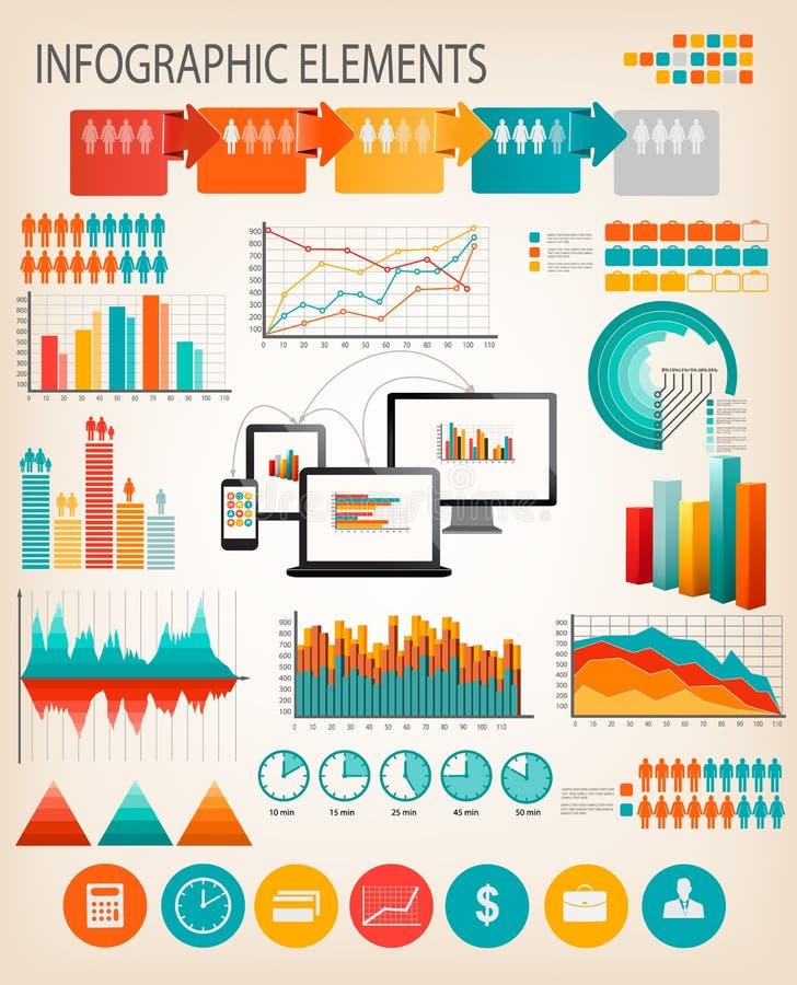 Plantilla del infographics del negocio. libre illustration