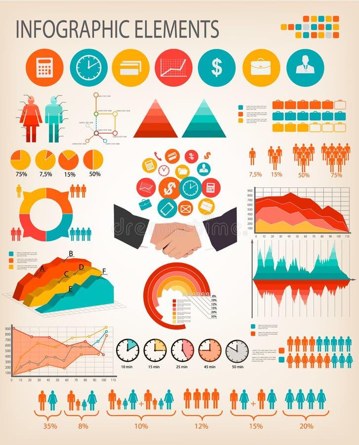 Plantilla del infographics del negocio. stock de ilustración