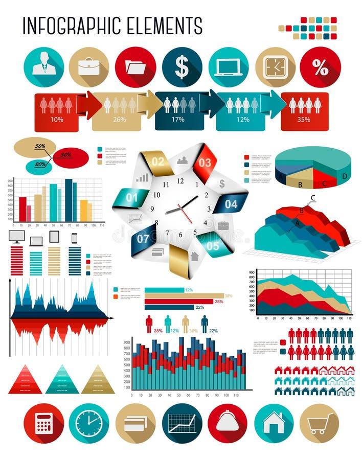 Plantilla del infographics del negocio libre illustration