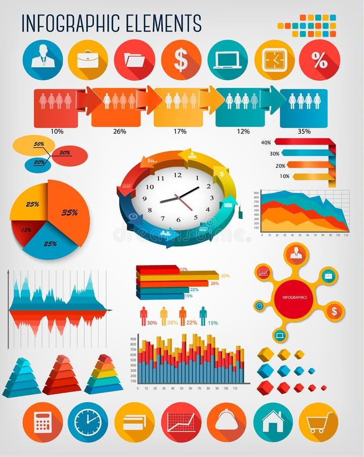 Plantilla del infographics del negocio ilustración del vector
