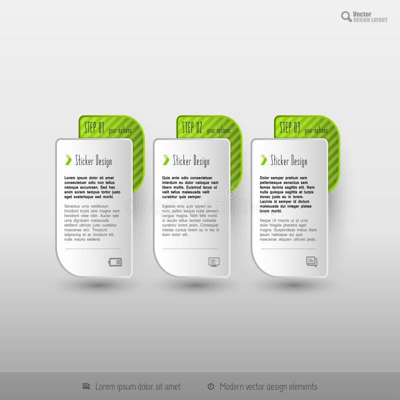 Plantilla del infographics del negocio para el diseño web libre illustration