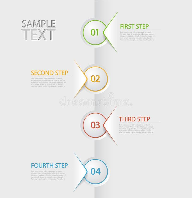 Plantilla del informe de la cronología de Infographic stock de ilustración