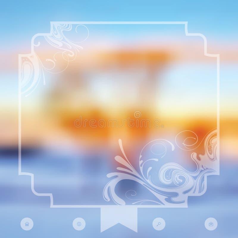 Download Plantilla del invierno ilustración del vector. Ilustración de fondo - 42444230