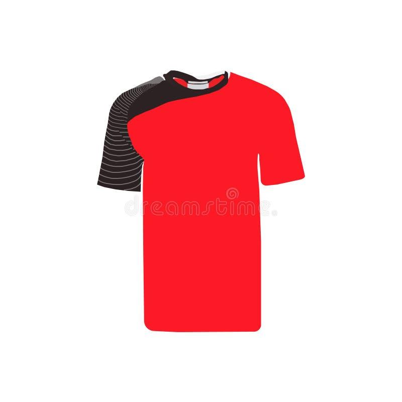 Plantilla del jersey de fútbol Mofa encima del uniforme del fútbol para el club del fútbol En el fondo blanco stock de ilustración