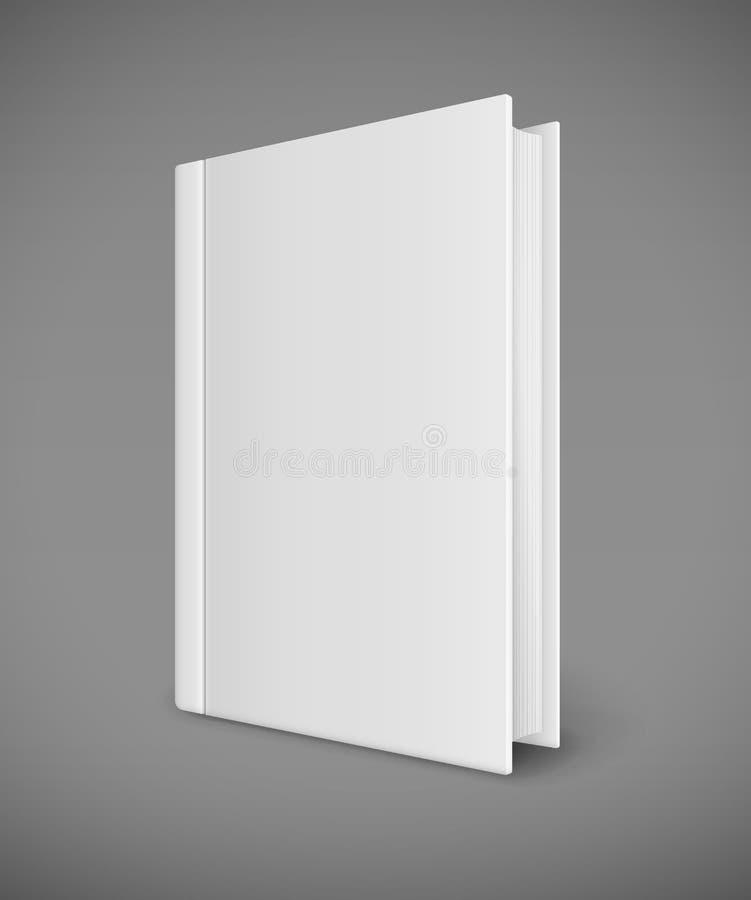 Plantilla del libro blanco con la cubierta en blanco stock de ilustración