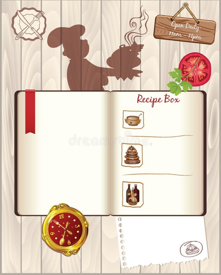 Plantilla Del Libro De Cocina De Las Recetas Ilustración del Vector ...