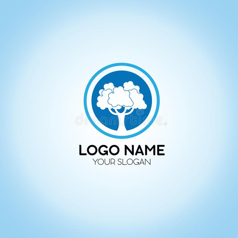 Plantilla del logotipo del árbol ilustración del vector