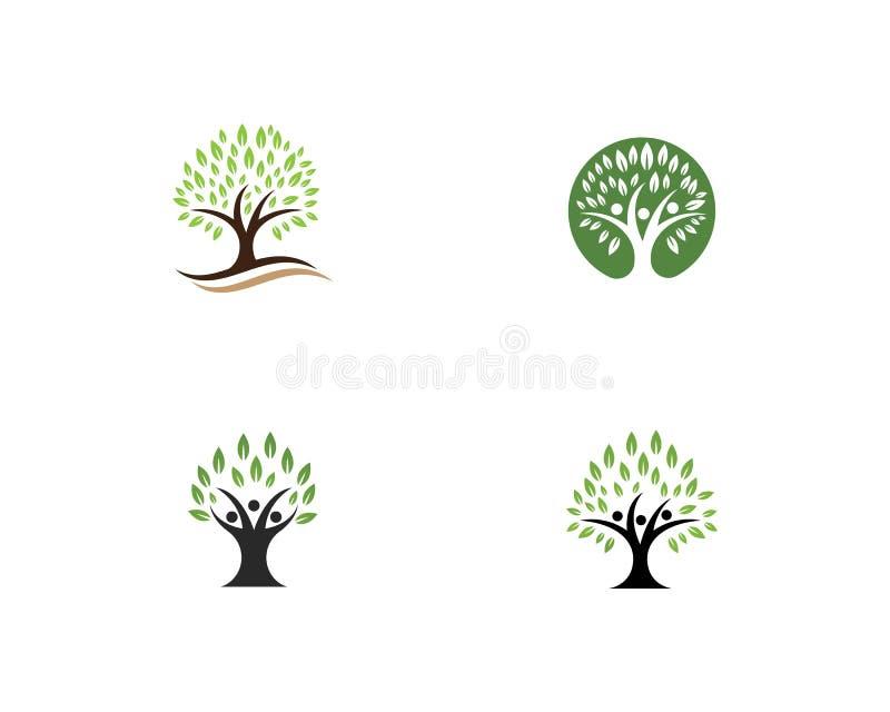Plantilla del logotipo del árbol de familia libre illustration