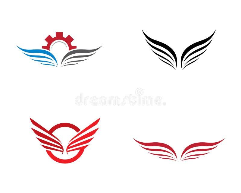 Plantilla del logotipo del ala ilustración del vector