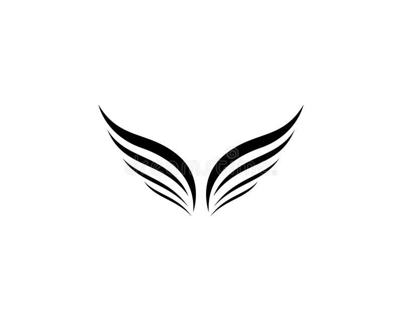 Plantilla del logotipo del ala stock de ilustración