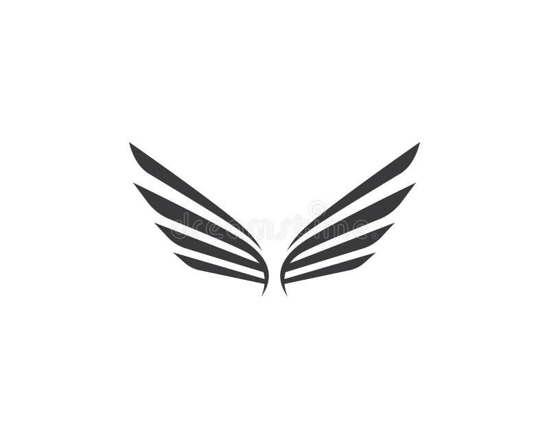 Plantilla del logotipo del ala libre illustration
