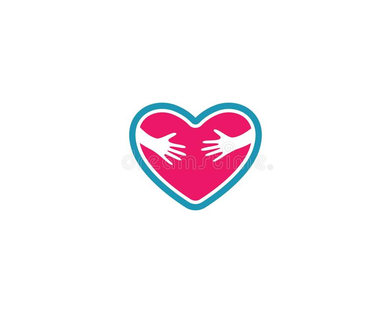 Plantilla del logotipo del amor ilustración del vector