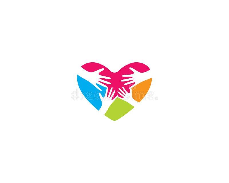 Plantilla del logotipo del amor stock de ilustración