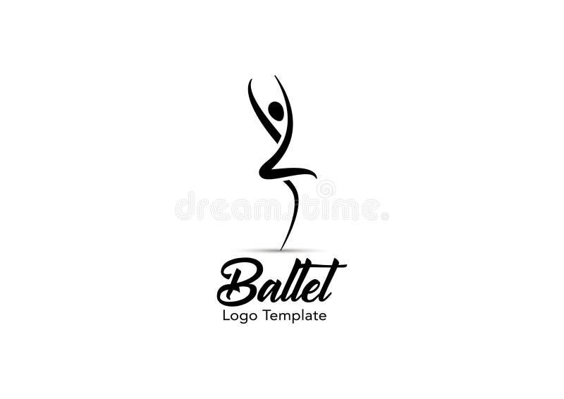Plantilla del logotipo del ballet imágenes de archivo libres de regalías