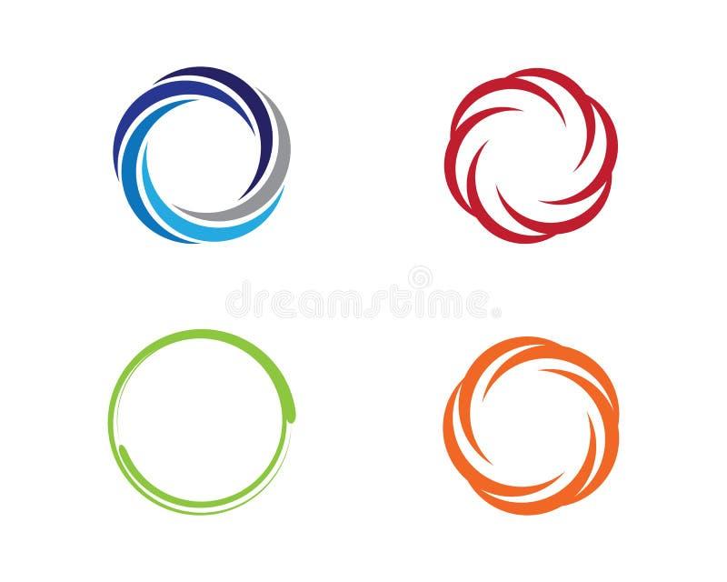 Plantilla del logotipo del círculo ilustración del vector