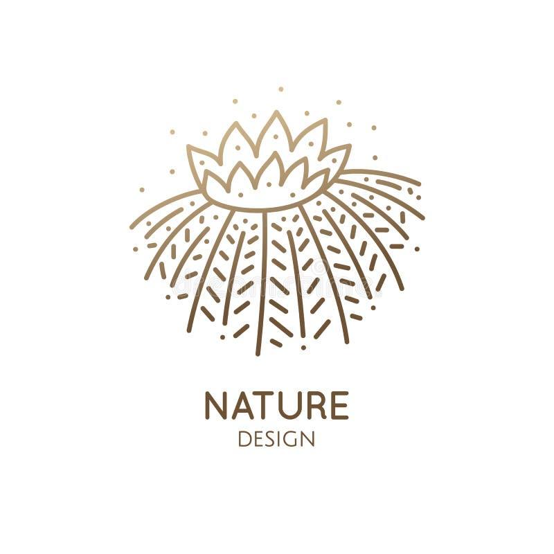 Plantilla del logotipo del cactus libre illustration