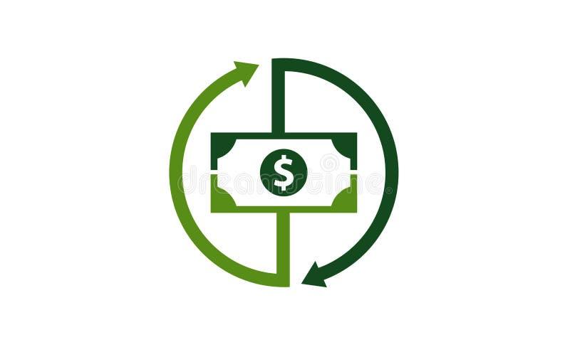 Plantilla del logotipo del cambio del dinero stock de ilustración