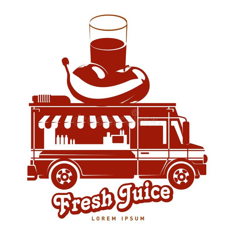 plantilla del logotipo del camión de la comida stock de ilustración