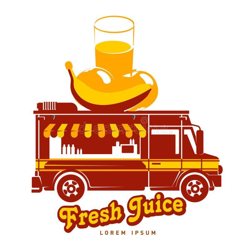 plantilla del logotipo del camión de la comida ilustración del vector