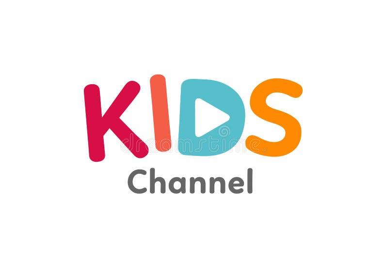 Plantilla del logotipo del canal de los niños stock de ilustración